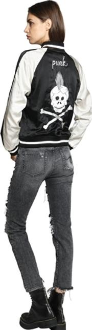 R13 , Reversible Embroidered Bomber Jacket