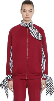House Of Holland , Tricot & Gingham Bomber Jacket
