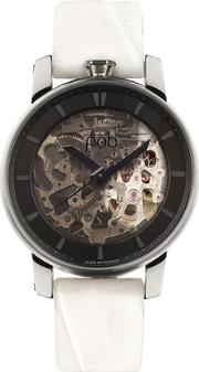 Fob Paris , Rehab 360 Silver Watch With White Band