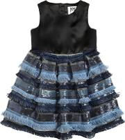 Milly Minis , Duchesse & Stretch Tulle Dress Wsequins