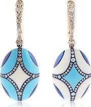 Chantecler , Maiolica Rose Gold & Turquoise Earrings