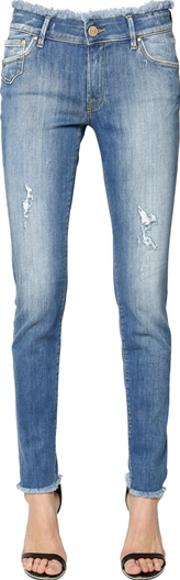 Dont Cry , Skinny Heart Pocket Cotton Denim Jeans