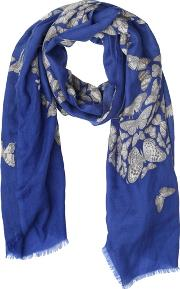 Elsa Marotta , Butterfly Printed Cashmere Scarf