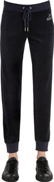 Juicy Couture , Crystal Logo Velour Sweatpants
