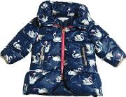 Little Marc Jacobs , Swans Printed Nylon Hooded Puffer Jacket