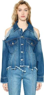Steve J & Yoni P , Asymmetrical Destroyed Denim Jacket