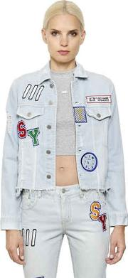Steve J & Yoni P , Patches Cotton Denim Jacket