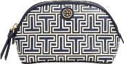 Tory Burch , Parker Geo T Faux Leather Cosmetic Bag
