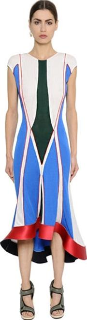 Esteban Cortazar , Geometric Thick Jersey Dress