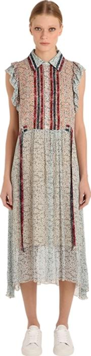 Tommy Hilfiger Collection , Prairie Floral Print Viscose Dress