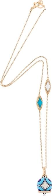Chantecler , Maiolica Rose Gold & Turquoise Necklace