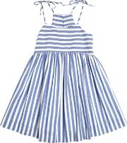 Milly Minis , Striped Cotton Chambray Dress