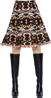 Andrew Gn , Wool & Cotton Jacquard Skirt