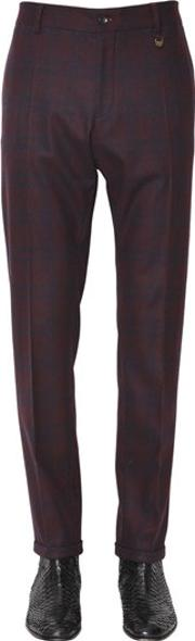 Lords & Fools , 17cm Checked Stretch Flannel Pants