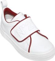N21 , Embroidered Nappa Leather Sneakers