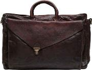 Campomaggi , Vintage Effect Leather Briefcase
