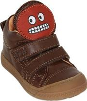 Ocra , Leather Sneakers With Smiling Patch