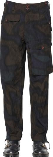 Kolor , 19.5 Cm Printed Cotton Poplin Pants