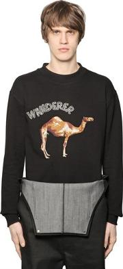 D By D , Wanderer Embroidered Cotton Sweatshirt