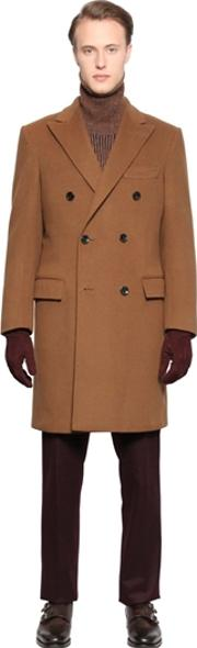 Larusmiani , Double Breasted Wool Cloth Coat
