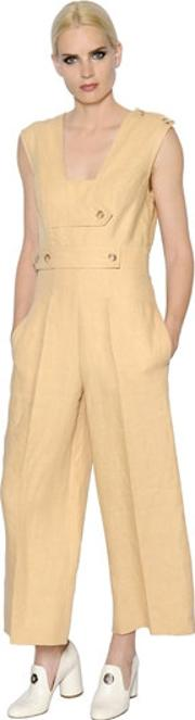 Sportmax , Linen Jumpsuit With Straps