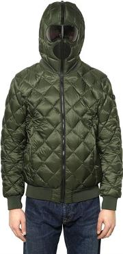 Ai Riders On The Storm , Quilted Micro Ripstop Down Bomber Jacket