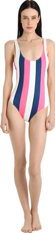 Solid & Striped , Anne Marie Striped Lycra Swimsuit