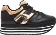 Hogan , 70mm Maxi 222 Leather Sneakers