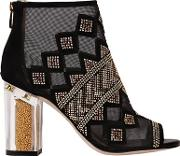 Katy Perry , 90mm Nakano Studded Mesh & Suede Boots
