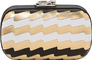 Corto Moltedo , Susan Pleated Leather Metal Clutch