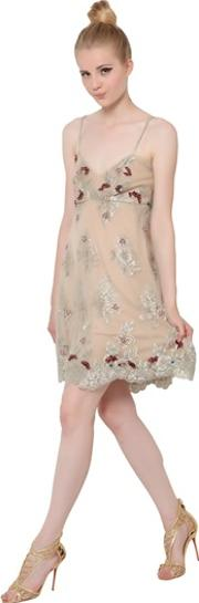 Fabiana Milazzo , Embroidered Techno Lace Dress