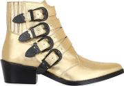 Toga Pulla , 50mm Metallic Leather Boots W Buckles