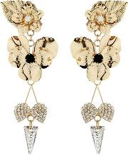 Vittorio Ceccoli , Pansy & Spikes Clip On Earrings