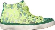 2 Star , Embroidered Nylon High Top Sneakers