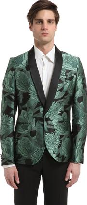 Christian Pellizzari , Embroidered Floral Jacquard Jacket