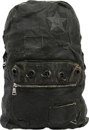Giorgio Brato , Waxed Canvas & Leather Backpack
