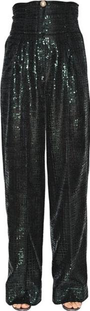 Ingie , High Waist Sequined Trousers