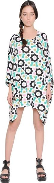 Yvonne S , Floral Printed Cotton Jersey Dress
