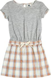 American Outfitters , Cotton Jersey & Plaid Dress