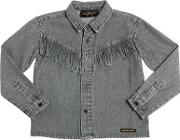 Finger In The Nose , Cotton Chambray Shirt W Fringe