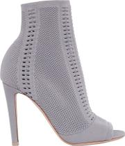 Gianvito Rossi , 100mm Stretch Knit Open Toe Booties