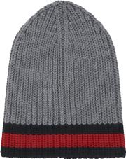 Gucci , Web Wool Cable Knit Beanie Hat