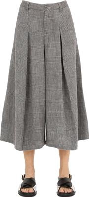 Transit Parsuch , Wide Leg Cotton Hounds Tooth Pants