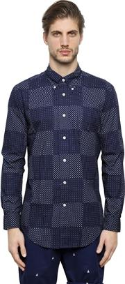 Brooks Brothers , Milano Patchwork Cotton Pinpoint Shirt