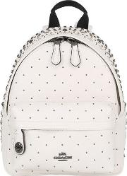 Coach Ny , Studded Leather Backpack