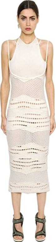 Esteban Cortazar , Cotton Knit Crochet Dress