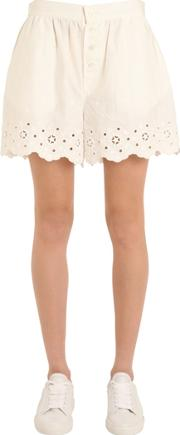 Tommy Hilfiger Collection , Cotton Eyelet Shorts