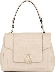 Trussardi , Lovy Perforated Leather Top Handle Bag