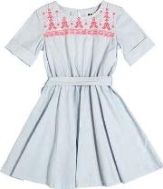 American Outfitters , Embroidered Cotton Poplin Dress