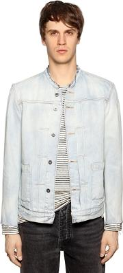 Levis Made & Crafted , Washed Denim Jacket W Raw Cut Edges